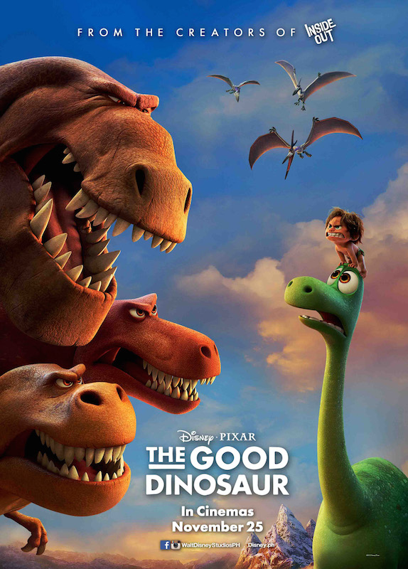 The Good Dinosaur (2015). Directed by Peter Sohn. Written by  Bob Peterson, Kelsey Mann, Meg LeFauve. Starring Raymond Ochoa, Jeffrey Wright, Frances McDormand, Sam Elliott.
