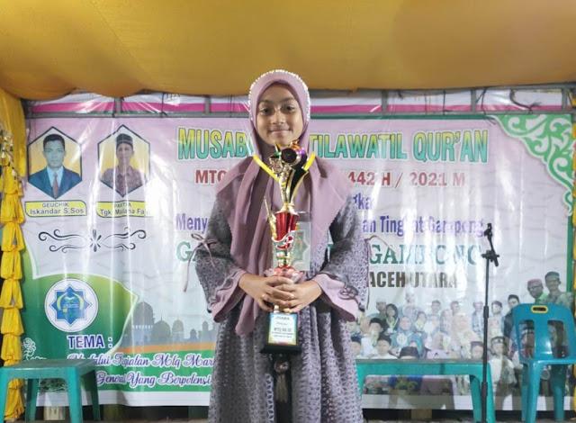 Fatimah Zuhra Raih 2 Juara di MTQ Tingkat Desa
