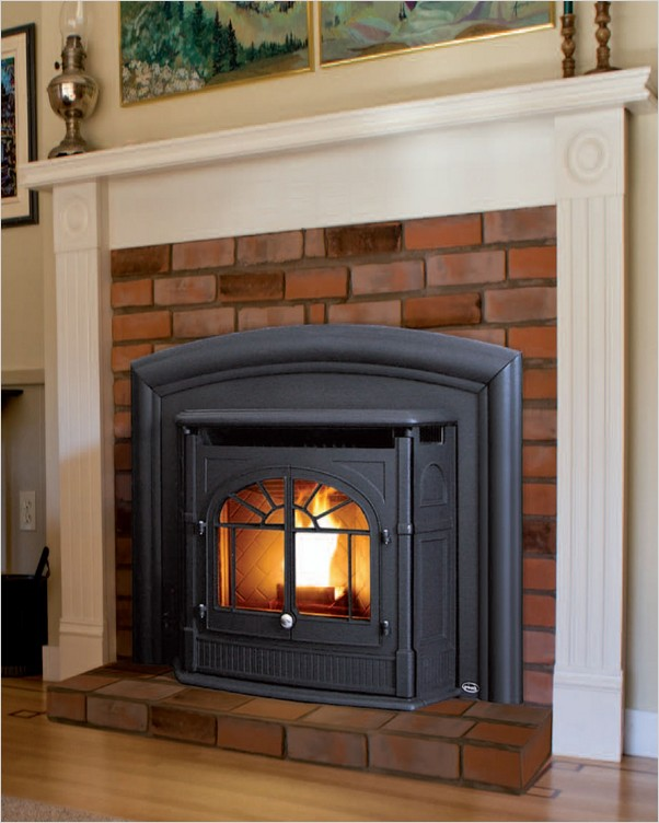 Pellet Stove Fireplace Insert Home Interior Exterior Decor