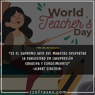 maestra en día del maestro