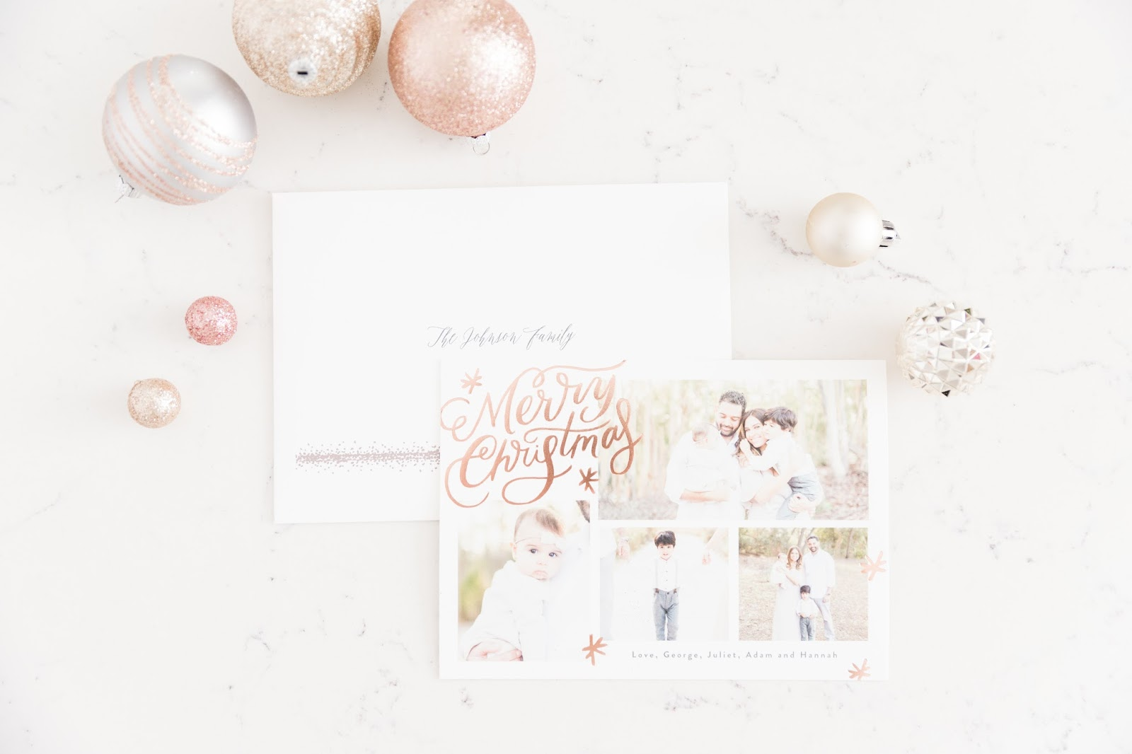 Christmas card with Minted