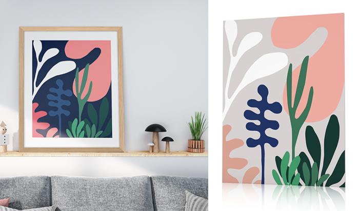 poster plantes exotiques