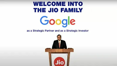 Google Is Going To Fund Rs.33,737 Crores On Reliance Jio For 7.7% Stake