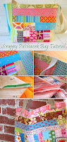 Scrappy Patchwork Bag Tote Tutorial