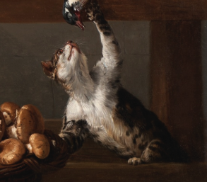 Mister Tristan Cats in Art Still Life With a Cat (Desportes)