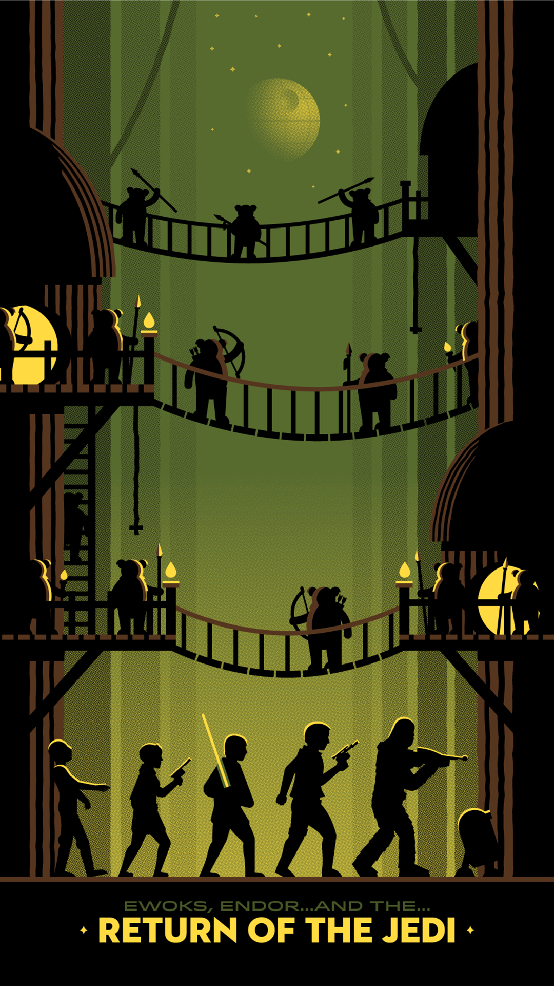 Star Wars Endor Wallpaper 4k