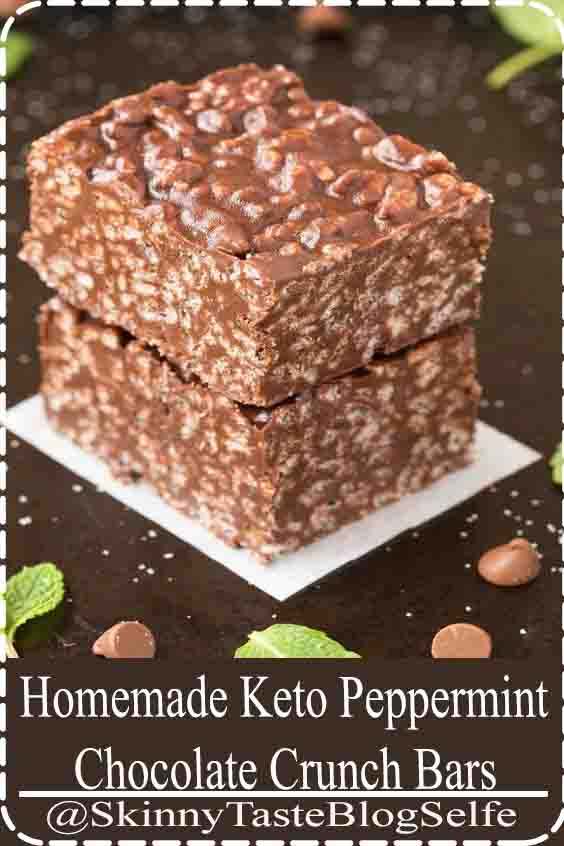 4.9 | ★★★★★ Homemade Keto Peppermint Chocolate Crunch Bars (Paleo, Vegan, Gluten Free, Sugar Free, Low Carb)- An easy 6-ingredient nut-free recipe for no bake chocolate peppermint crunch bars like the candy bar! Ready in minutes! #peppermintchocolate #keto #paleo #vegan #dairyfree #nutfree#Homemade #Chocolate #CrunchBars