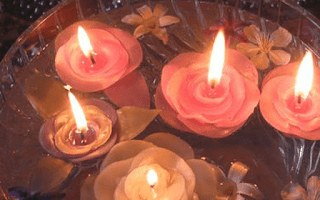 Flower Shaped Candles