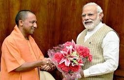 Yogi Adityanath and Narendra Modi
