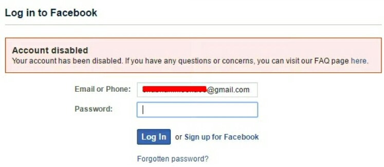 how to bring back your facebook account that is been disable
