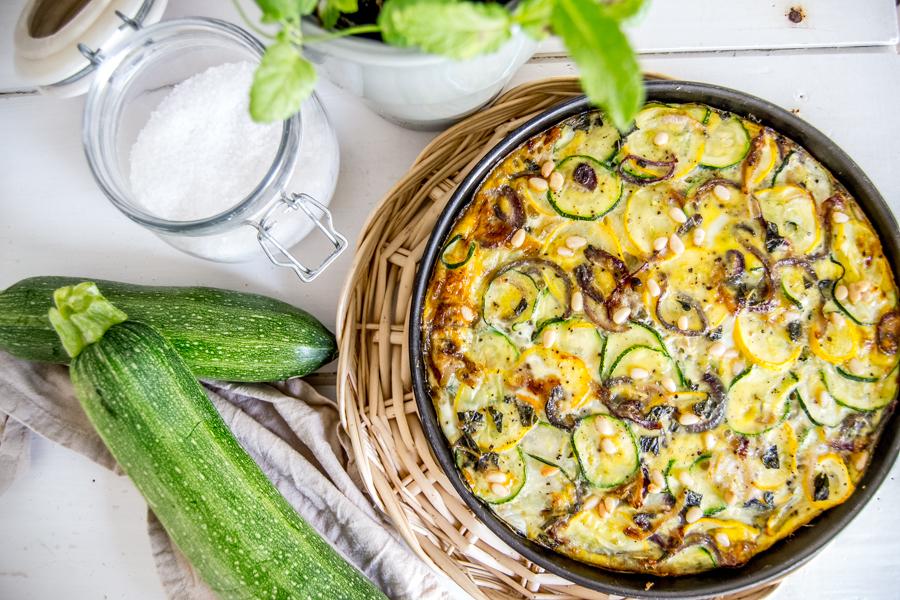 recette frittata courgette citron menthe blog spoonencore