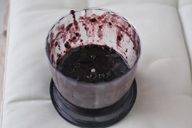 Blended blackberries