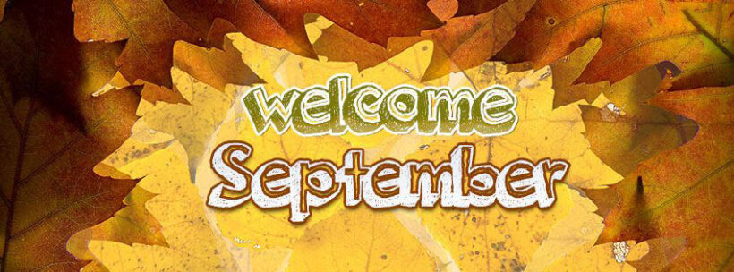 Ảnh bìa Facebook tháng 9 welcome september