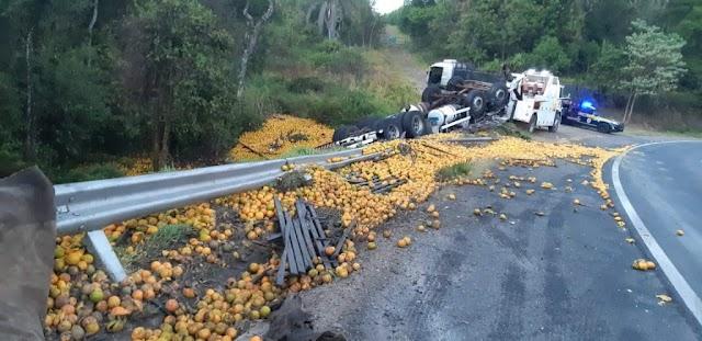 Pai e filho morrem em acidente na BR-153 entre Ibaiti e Ventania