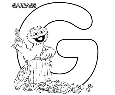 Coloring Pages for Kids: Letter