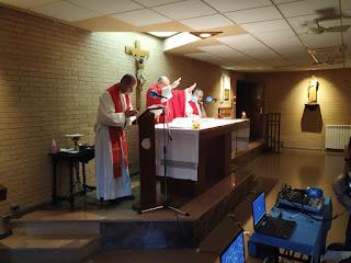 Emisión de la misa de nuestra parroquia por Radio María