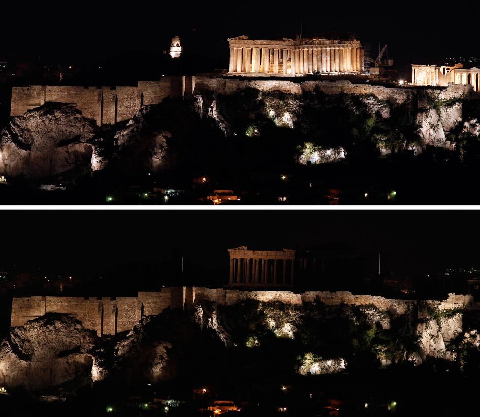 Acropolis ở Hy Lạp. Hình ảnh: Kostas Tsironis, Associated Press.