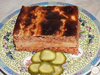 Musaca de vinete cu carne si cartofi reteta,