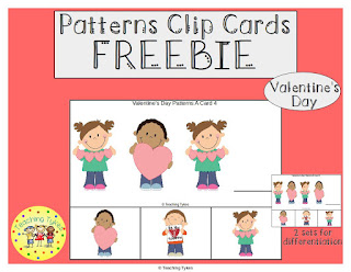 https://www.teacherspayteachers.com/Product/Valentines-Day-Patterns-Task-Clip-Cards-FREEBIE-3002291