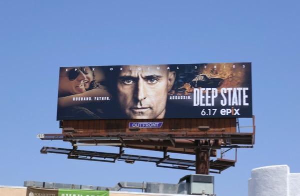 Deep State series premiere billboard