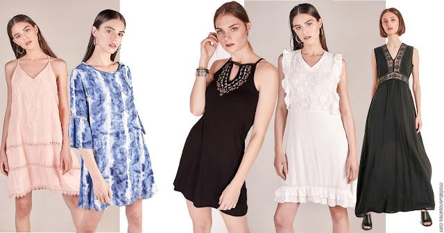 Moda 2018. Vestidos de verano de la colección Sweet 2018, ropa de mujer marca argentina. Moda 2018 mujer.