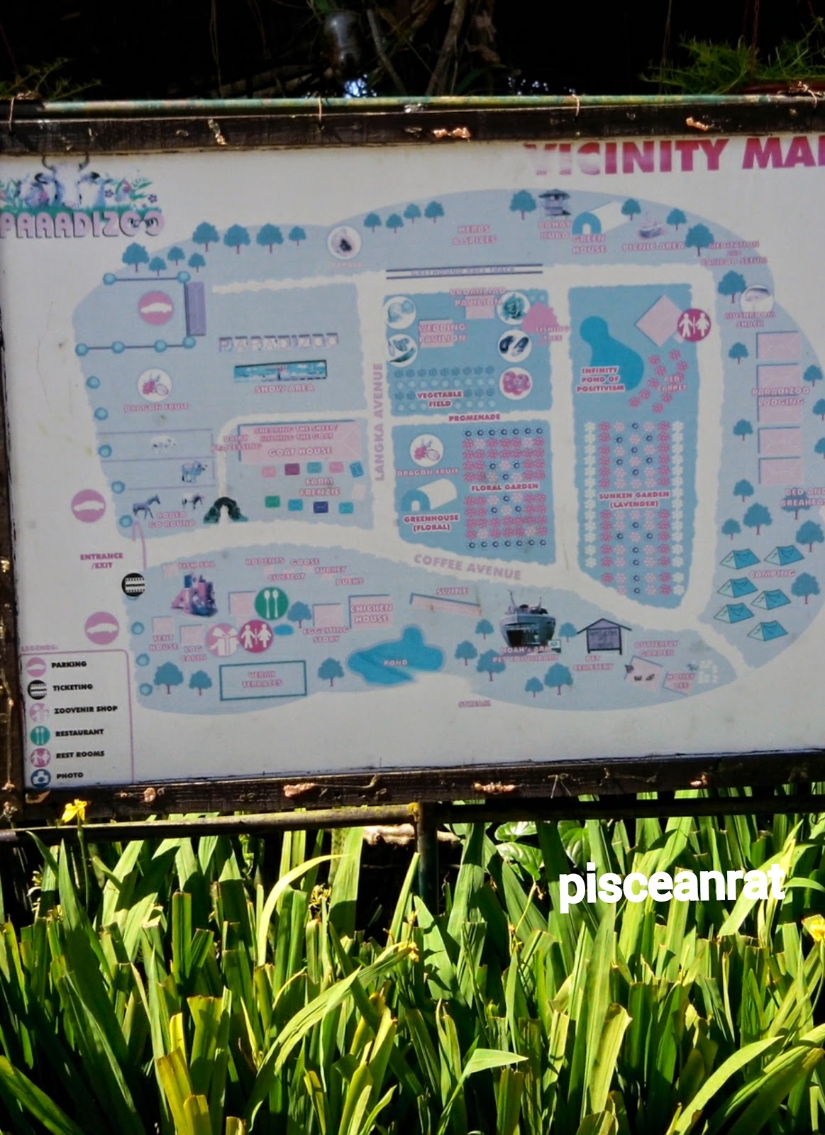 vicinity map, paradizoo,