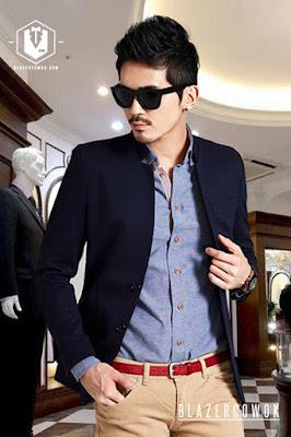 blazer cowok blazercowok.com jaket korean jas pria sk82 a