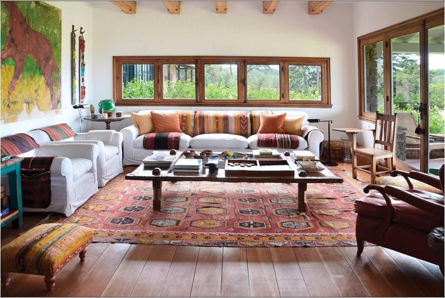 Detalhes do c u casa de campo na argentina for Estilos de decoracion living