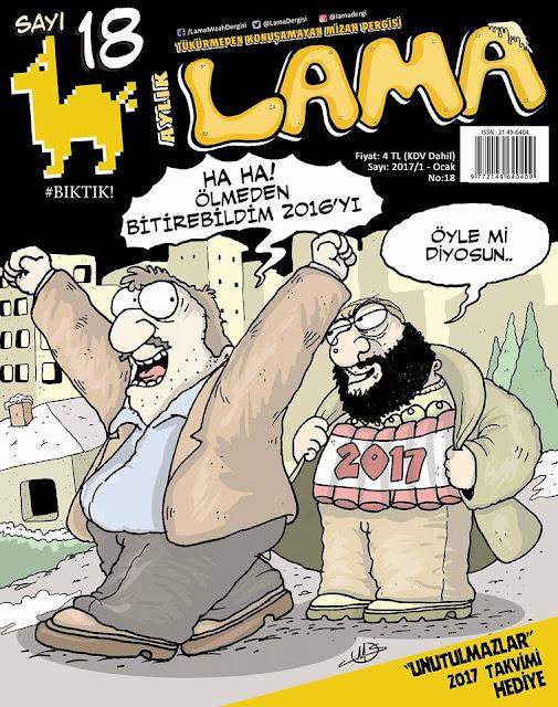 Lama Dergisi | 1 Ocak 2017 Kapak Karikatürü