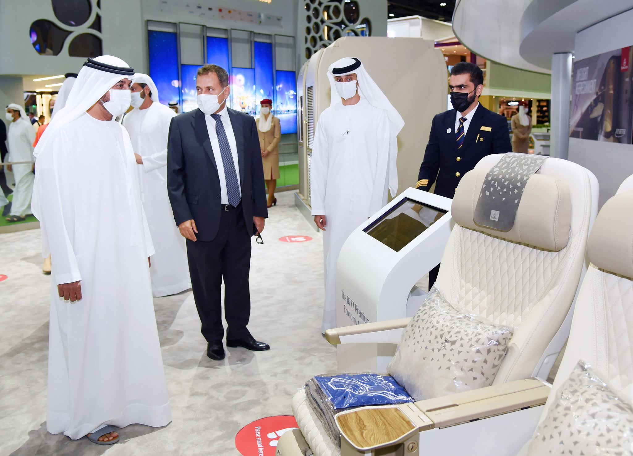 Emirates welcomed Sheikh Ahmed bin Saeed Al Maktoum to its ATM stand