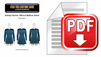 TNG medical smock (Dr. Pulaski uniform) sewing tutorial PDF