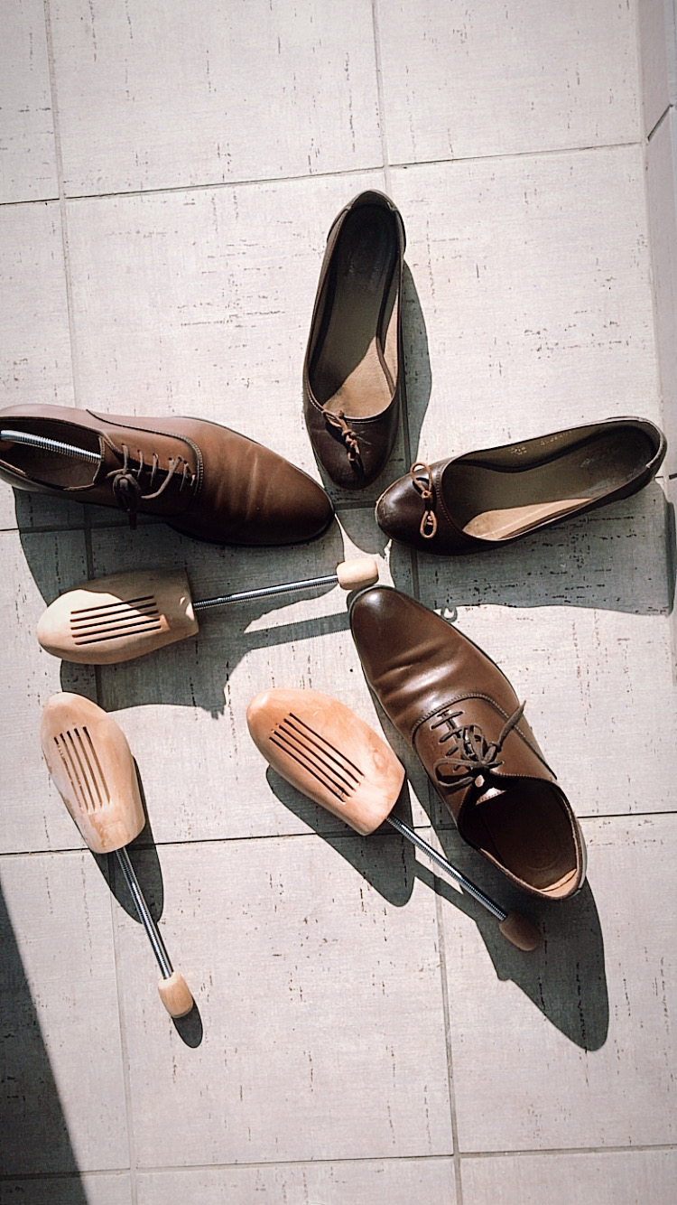 Prawidła drewniane, buty