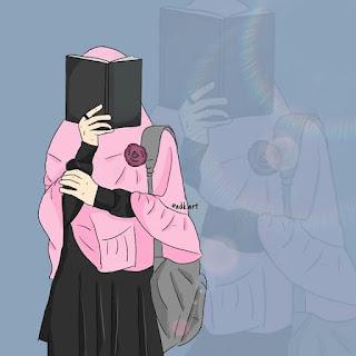 kumpulan kartun hijab sedih