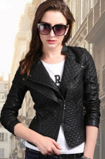 Black faux leather jackets for pretty girls