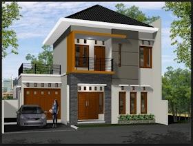 Model Atap Rumah Minimalis 2 Lantai Tampak Depan