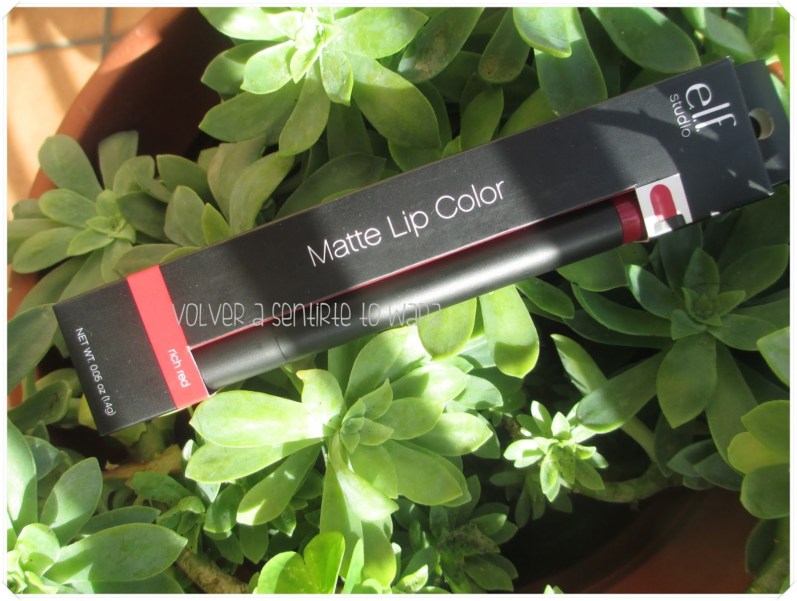 Matte Lip Color de Elf - Rich Red {Dragon Girl} - iHerb Favoritos