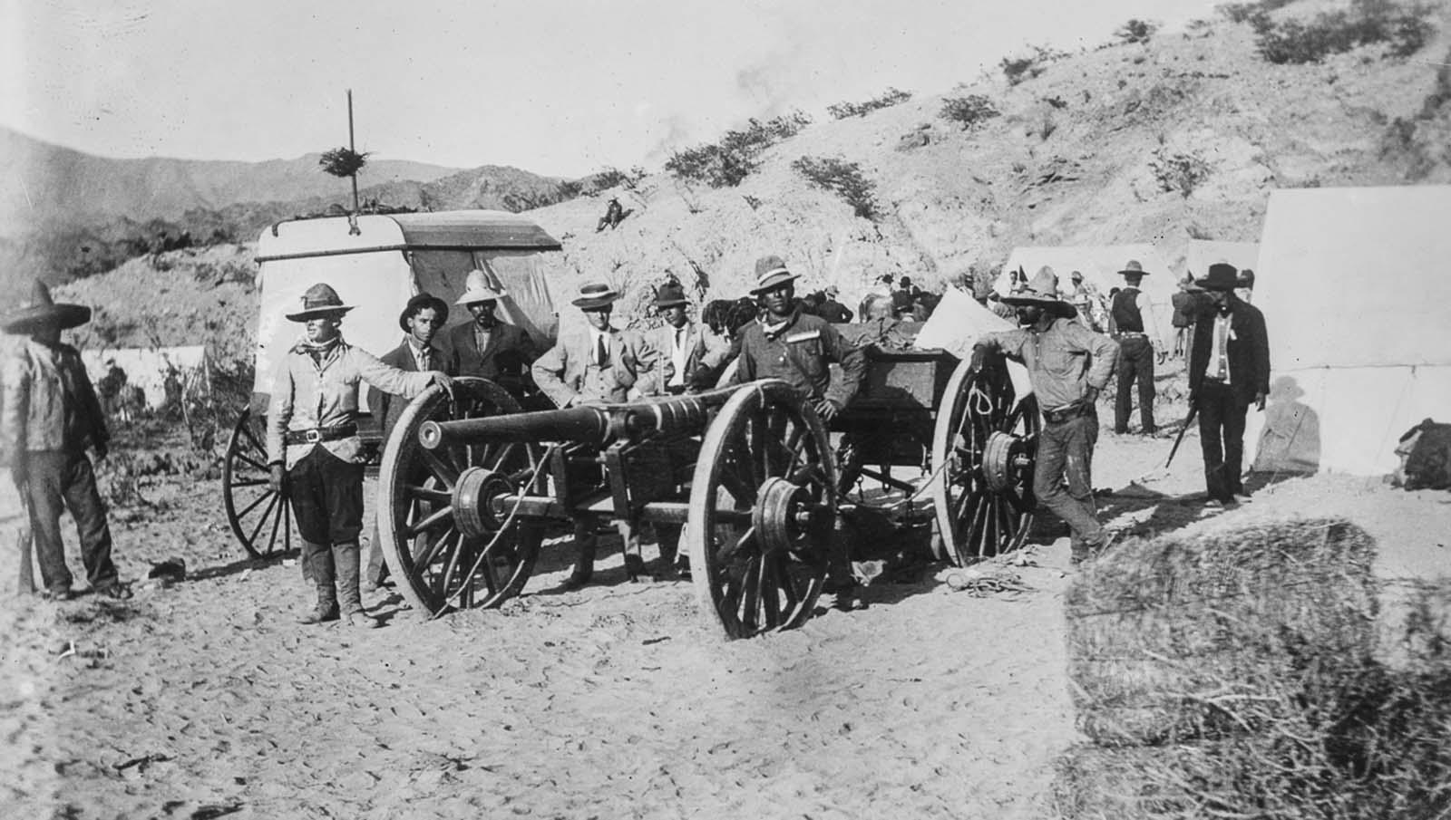 Lázadók által épített ágyú, amelyet a szövetségi erők kisajátítottak.