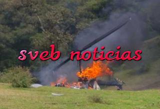 Cae helicoptero en Chiconquiaco Veracruz