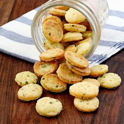 Cheddar Cheese and Chive Crackers