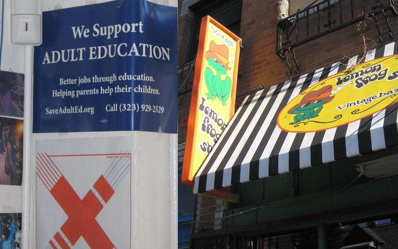 Lemon Frog Shop On Alvarado 90026 supports LAUSD Adult Education.