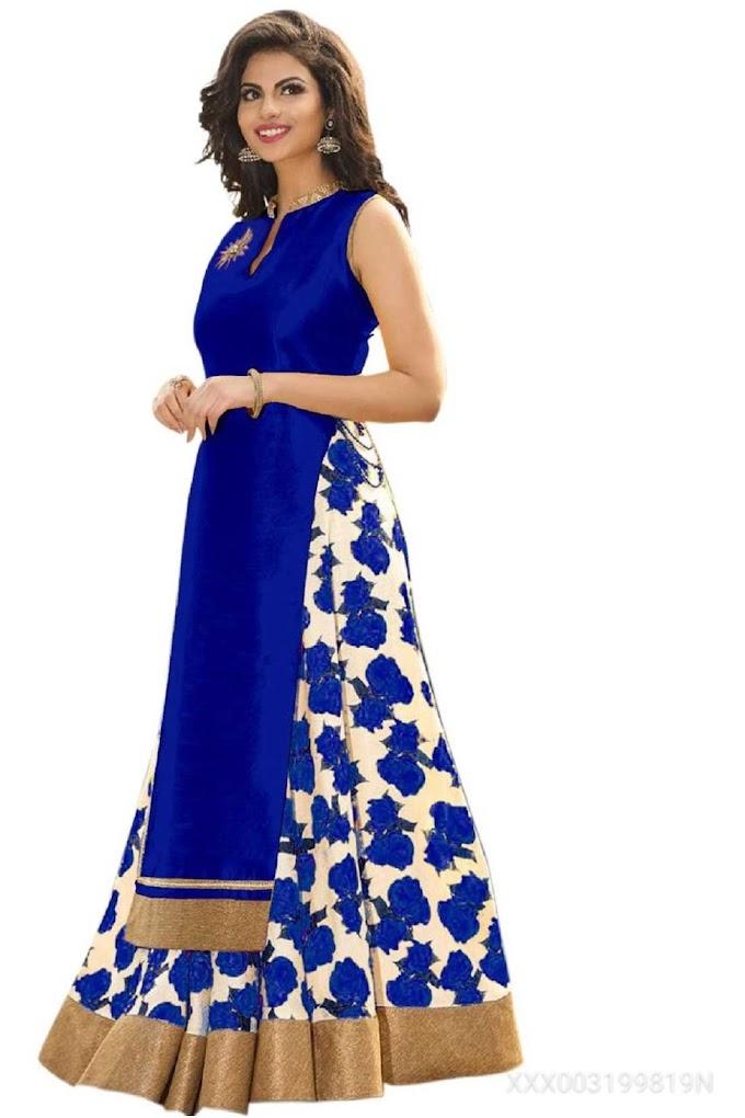 Ethnic Aika Printed Bhagalpuri Semi-stitched Lehenga,Price-490/-