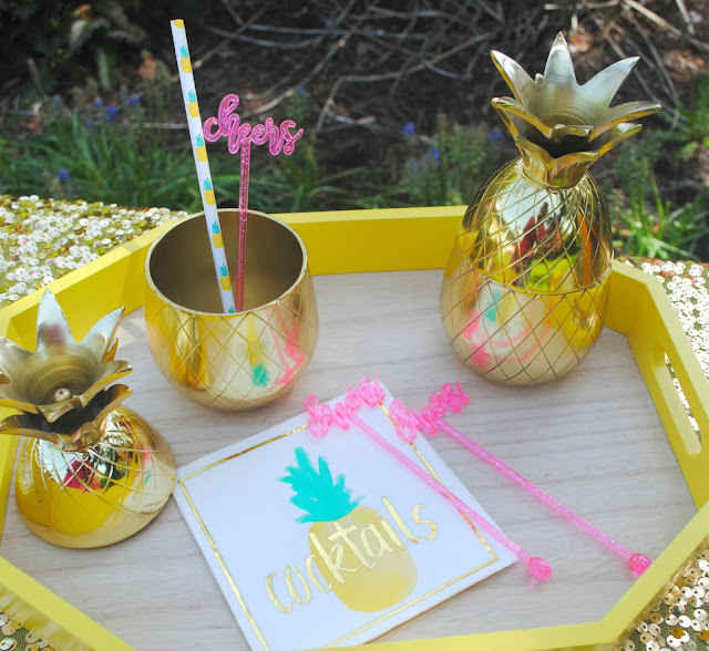 Serve up a tropical bar for your mom friends. See more ideas on FizzyParty.com
