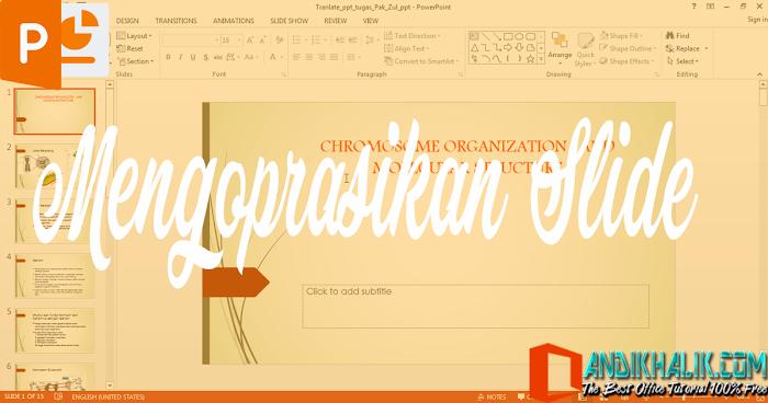 Cara Tambah, Gandakan, Pindahkan, Hapus atau Sembunyikan Slide di PowerPoint