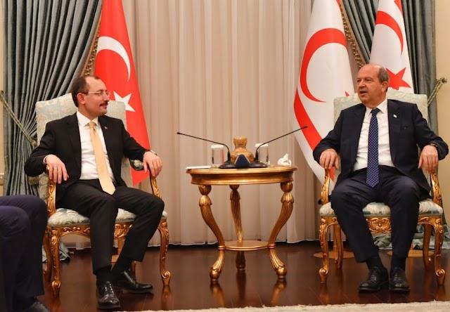 Ticaret Bakanı Muş, KKTC Cumhurbaşkanı Ersin Tatar'ı ziyaret etti