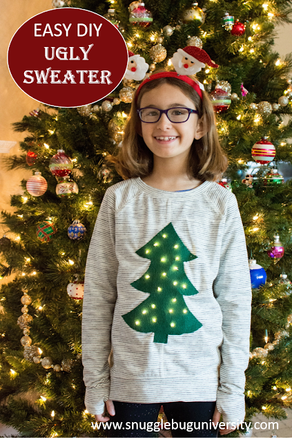 A last minute, easy DIY ugly sweater…