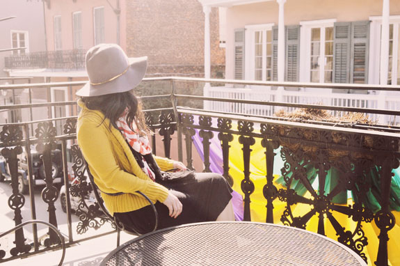 Where to Stay in New Orleans Hotel Maison de Ville balcony