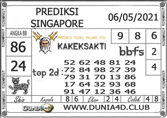 Prediksi Togel SINGAPORE DUNIA4D 06 MEI 2021