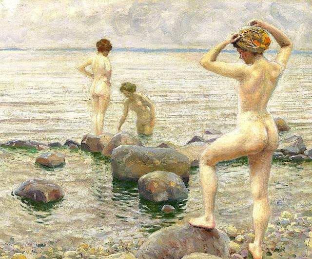 Paul Gustave Fischer: tre bagnanti