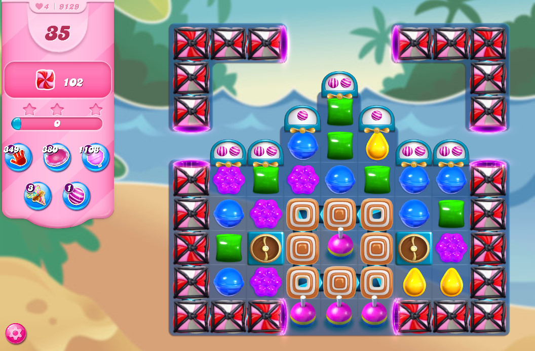 Candy Crush Saga level 9129