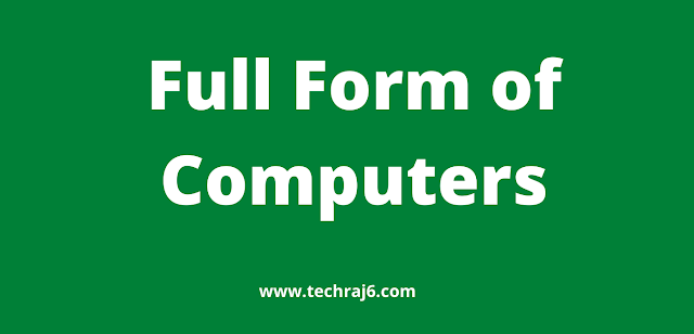Full Form of Computers